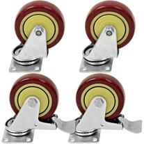 """Seismic Audio - 4 Pack of SWIVEL 4"""" CASTERS 2 Locking and 2"""