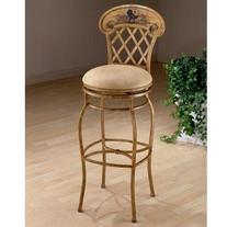 Swivel Rooster Counter Stool in Country Beige