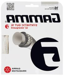 Gamma Synthetic Gut 16G Tennis String With Wearguard, White