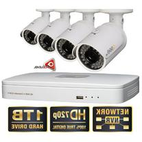 Q-See 4 Channel HD Security System with 1TB Hard Drive, 4