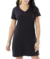LAT Women's T-Shirt Dress 3522-White-S/M
