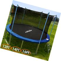 Zupapa 15 Ft TÜV Approved Trampoline with Pole and