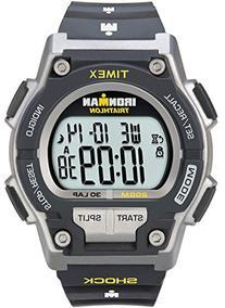 Timex T5K195 Men's Ironman Shock Resistant 30-Lap Watch - Black/Yellow