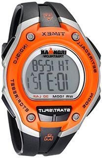 Timex Men's T5K529 Ironman Classic 30 Oversized Black/Orange