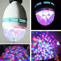 Triangle Bulbs T90024 - Multi Color Rotating LED Lamp Stage