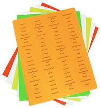 11x17 Tab Divider Labels, Pack of 240, Clear