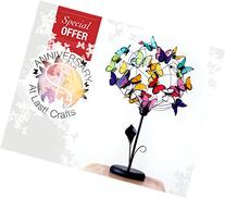 Table lamp with arum Lilly and butterflies-Gift for her,