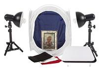 """StudioPRO Table Top Lighting Tent Kit-12"""" with  Light Stands"""
