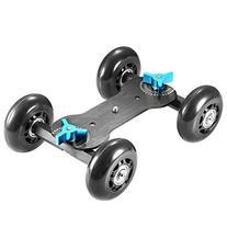 Neewer 4 Wheel Mobile Rolling Dolly for Speedlite DSLR
