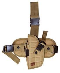 Tactical Army tan Drop Leg Thigh Pistol Hand Gun Holster