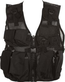 Modern Warrior Junior Black Tactical Vest Fits Children and