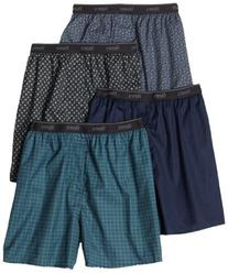 Hanes Men's 4-Pack TAGLESS Assorted Prints Boxer, Assorted,