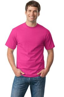 Hanes Adult Tagless T-Shirt - Wow Pink