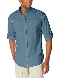 Columbia Men's Tamiami II Long Sleeve Shirt, Blue Heron,