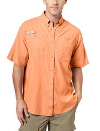 Columbia Men's Tamiami II Short Sleeve Shirt, Sorbet, X-