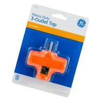 Tap, 3 Outlets Grounded, Heavy Duty, Orange