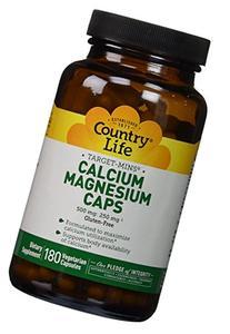 Country Life Target Mins - Calcium Magnesium Caps, 500 mg/