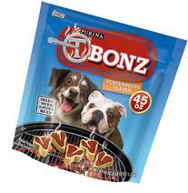 T-Bonz Porterhouse Flavor Dog Snacks 45-Ounce Pouch, Pack of