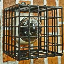 TC223- CCTV CAMERA & LIGHT PROTECTION GALVANISED BLACK CAGE