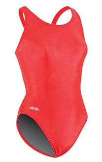 Team Solid HP Back Swimsuit Womens - Red 28