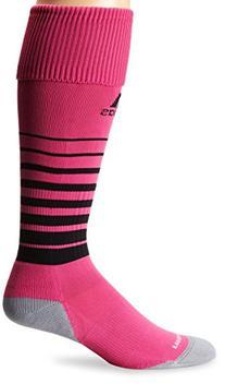 adidas Team Speed Soccer Sock, Intense Pink/Black, Large
