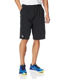 ASICS Men's Team Performance Tennis Shorts, Black/White,