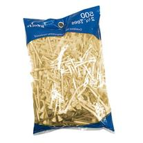 Intech 500 Pack 2 3/4-Inch Natural Tees
