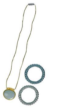 Infantino Teething Gems Pendant and Bracelet Set, Teal