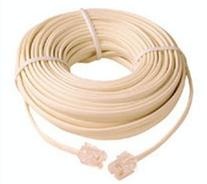 50 Ft Telephone Extension Cord Phone Cable Foot Ivory
