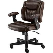Staples Telford II LuxuraManagers Chair, Brown