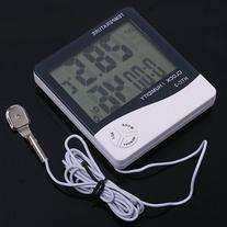 1 X Digital LCD Temperature Thermometer Humidity Meter Clock