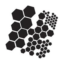 Crafters Workshop Template, 12 by 12-Inch, Hexagons