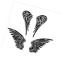 Crafter's Workshop Template 12X12-Angel Wings