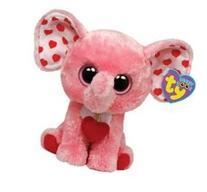 "Ty Beanie Boos Tender Elephant 6"" Plush, Pink"