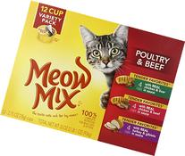 Meow Mix Tender Favorites Poultry and Beef Variety Pack, 12/