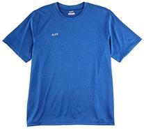 Fila Tennis Men's Short Sleeve Crew Shirt, Black Heather,