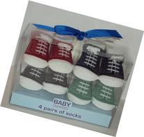4 Pack Baby Tennis Shoe Sock Set/Baby Shower Gift/Newborn