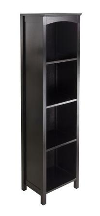 Winsome Terrace Storage Shelf, 5-Tier in Espresso Finish
