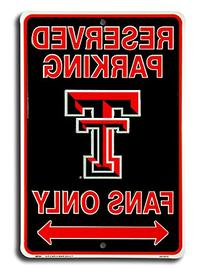 Texas Tech Fans Tin Sign 8 x 12in