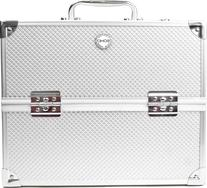 SOHO Pro Texture Diamond Beauty Case, Silver, 1 ea