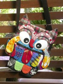 Thai Handmade Adorable Patchwork Owl Sling Bags for Girl 02