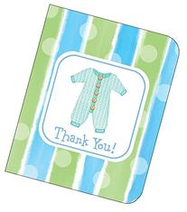 Thank You Cards Boy Baby Clothes 8ct