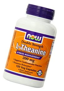Now Foods L-Theanine Veg Capsules, 200 mg, 120 Count