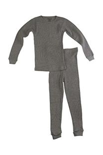 Better Wear Girls Thermal Underwear Set 4 Gray
