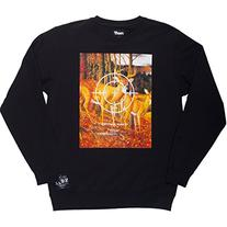 Neff Thicket Crew Fleece Sweatshirt - Men's Black, M