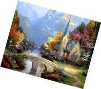 Thomas Kinkade The Mountain Chapel-DIY Paintng by number