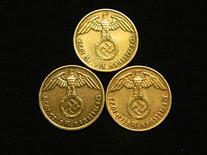 Three Bronze German Third Reich Reichspfennig Coins, 1939A,
