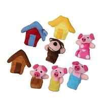 8pcs the Three Little Pigs Finger Puppets Nursery Rhyme/