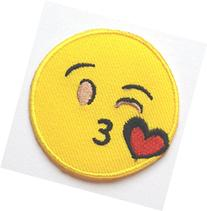 Throwing Kiss Emoji Patch Embroidered Iron on Badge Applique