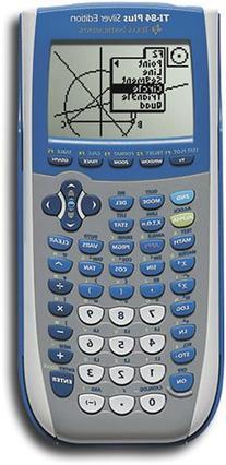 Texas Instruments Inc. TI-84 Plus Silver Edition Blue